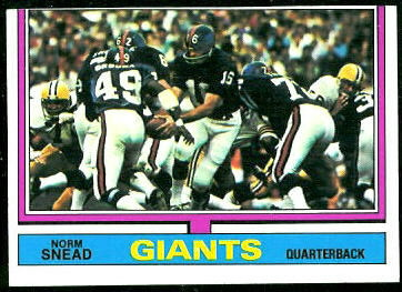 Norm Snead 1974 Topps football card