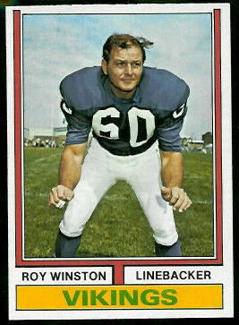 Roy Winston 1974 Topps football card