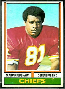 Marvin Upshaw 1974 Topps football card