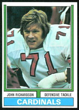 John Richardson 1974 Topps football card