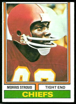 Morris Stroud 1974 Topps football card