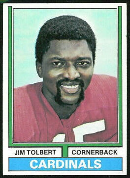 Jim Tolbert 1974 Topps football card