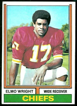 Elmo Wright 1974 Topps football card