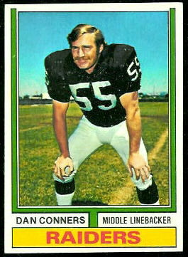 Dan Conners 1974 Topps football card