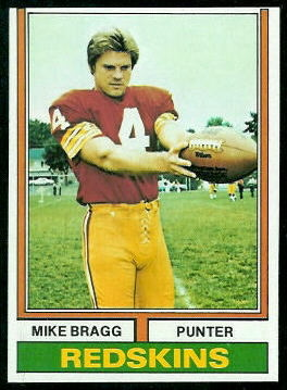 Mike Bragg 1974 Topps football card