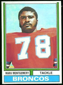 Marv Montgomery 1974 Topps football card