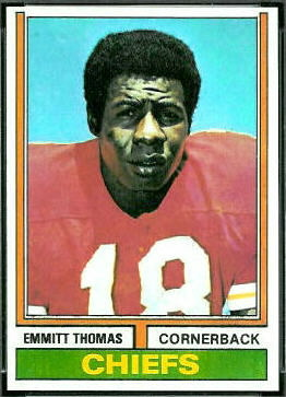 Emmitt Thomas 1974 Topps football card
