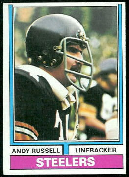 Andy Russell 1974 Topps football card
