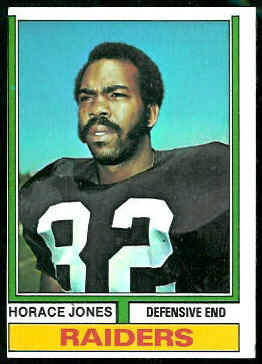 Horace Jones 1974 Topps football card