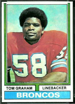 Tom Graham 1974 Topps football card