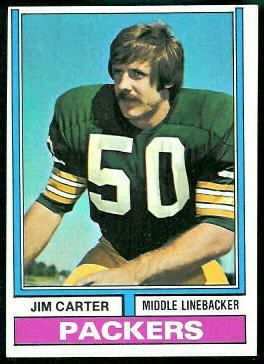 Jim Carter 1974 Topps football card