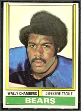 Wally Chambers 1974 Topps football card
