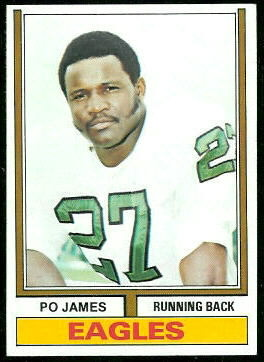 Po James 1974 Topps football card