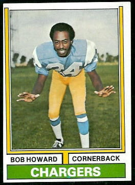 Bob Howard 1974 Topps football card
