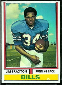 Jim Braxton 1974 Topps football card
