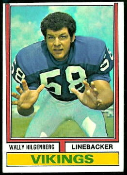 Wally Hilgenberg 1974 Topps football card