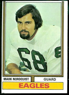Mark Nordquist 1974 Topps football card