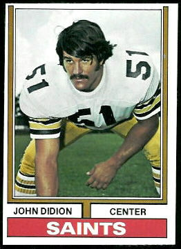 John Didion 1974 Topps football card