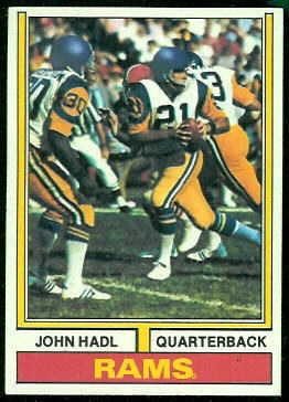 John Hadl 1974 Topps football card