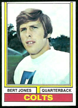 Bert Jones 1974 Topps football card