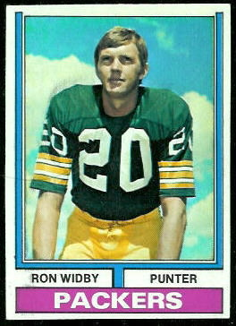 Ron Widby 1974 Topps football card