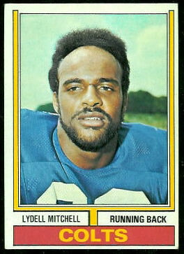 Lydell Mitchell 1974 Topps football card