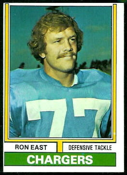 Ron East 1974 Topps football card