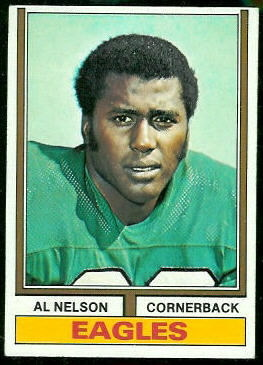 Al Nelson 1974 Topps football card