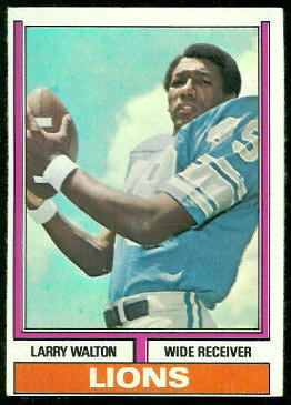 Larry Walton 1974 Topps football card