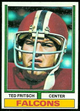 Ted Fritsch Jr. 1974 Topps football card
