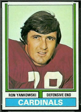 Ron Yankowski 1974 Topps football card