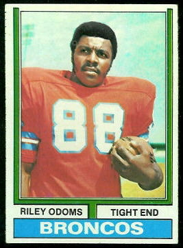 Riley Odoms 1974 Topps football card