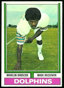 Marlin Briscoe 1974 Topps football card