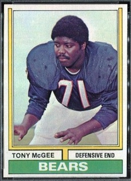 Tony McGee 1974 Topps football card