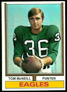 Tom McNeill 1974 Topps football card