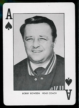 1974 West Virginia Mountaineers Bobby Bowden playing card