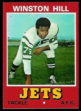 Winston Hill 1974 Wonder Bread football card