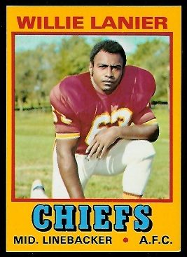 Willie Lanier 1974 Wonder Bread football card