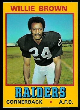 Willie Brown 1974 Wonder Bread football card