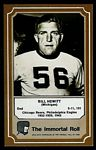 Bill Hewitt 1975 Fleer Immortal Roll football card