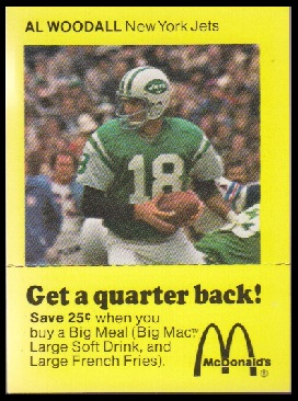 Al Woodall 1975 McDonalds Quarterbacks football card