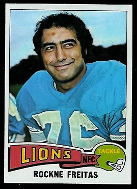 Rockne Freitas 1975 Topps football card