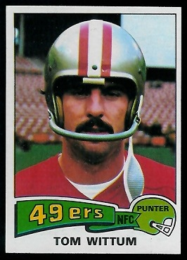 Tom Wittum 1975 Topps football card