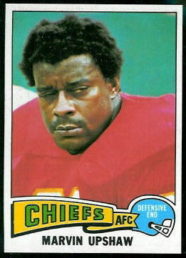 Marvin Upshaw 1975 Topps football card