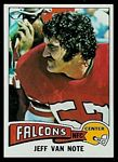 Jeff Van Note 1975 Topps football card
