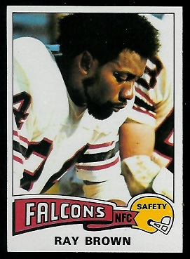 Ray Brown 1975 Topps football card