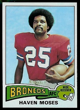 Haven Moses 1975 Topps football card