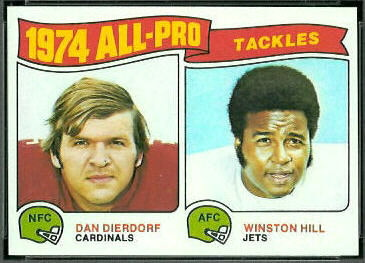 1974 All-Pro Tackles 1975 Topps football card