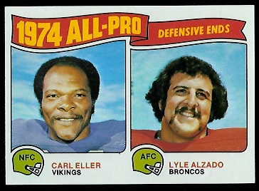 1974 All-Pro Defensive Ends 1975 Topps football card