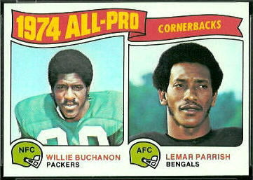 1974 All-Pro Cornerbacks 1975 Topps football card